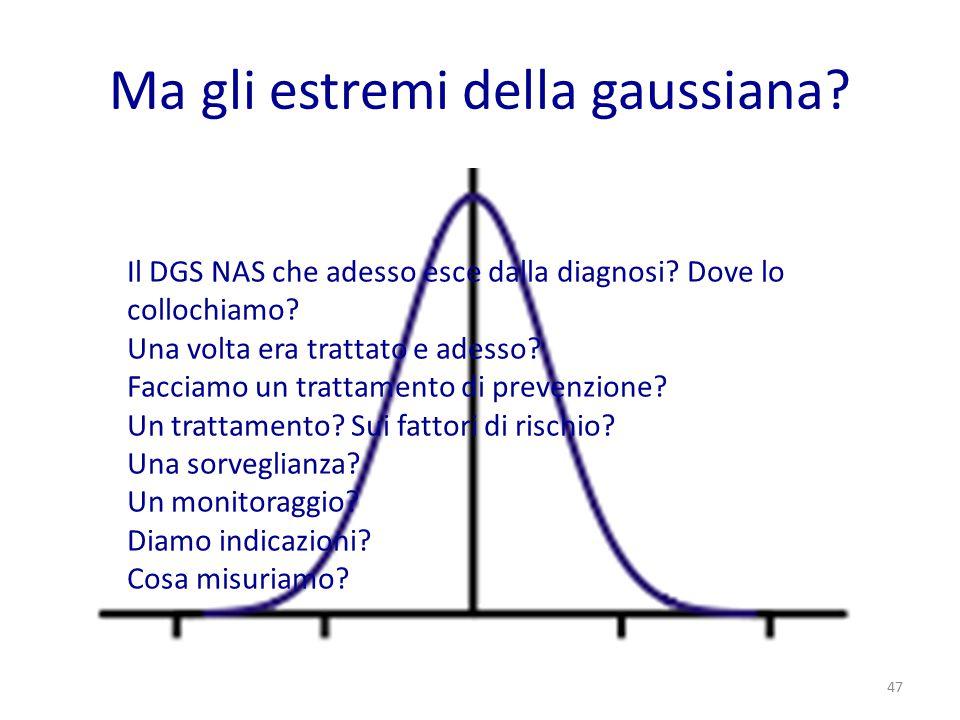 Ma gli estremi della gaussiana? Il DGS NAS che adesso esce dalla diagnosi? Dove lo collochiamo? Una volta era trattato e adesso? Facciamo un trattamen