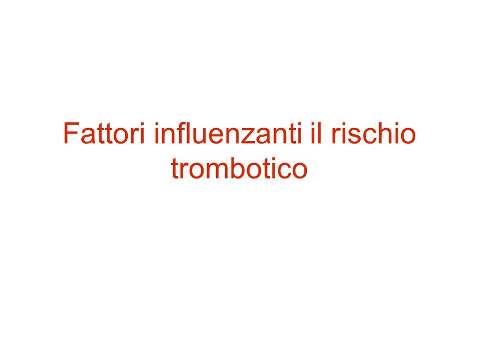 Fattori influenzanti il rischio trombotico