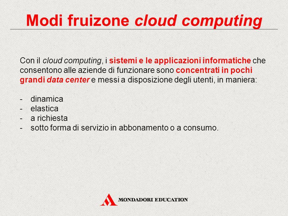 Vantaggi Cloud per la PA I principali vantaggi del cloud computing per le PA sono da ricercare in: Investimento iniziale contenuto Disponibilità di servizi Scalabilità Collaborazione Sicurezza