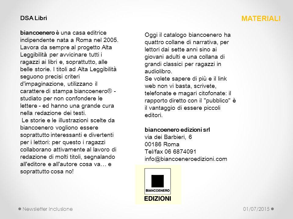 DSA Libri biancoenero è una casa editrice indipendente nata a Roma nel 2005. Lavora da sempre al progetto Alta Leggibilità per avvicinare tutti i raga