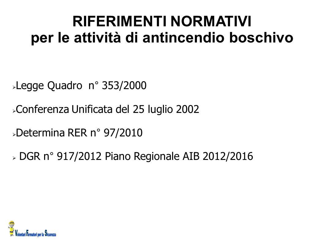 RIFERIMENTI NORMATIVI sicurezza nel volontariato  Decreto 09 aprile 2008 n° 81 art.