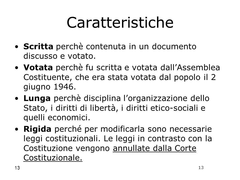 Costituzione Cost.formale Indica il testo completo della Costituzione.