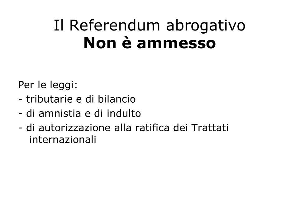 Fase dell'iniziativa Il referendum viene richiesto da: – 500.000 elettori (raccolta di firme) – 5 Consigli regionali