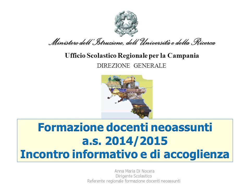 Ministero dell'Istruzione, dell' Università e della Ricerca Ufficio Scolastico Regionale per la Campania DIREZIONE GENERALE Anna Maria Di Nocera Dirig