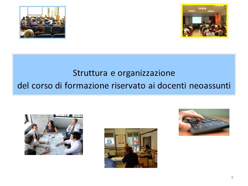 4 Struttura e organizzazione del corso di formazione riservato ai docenti neoassunti
