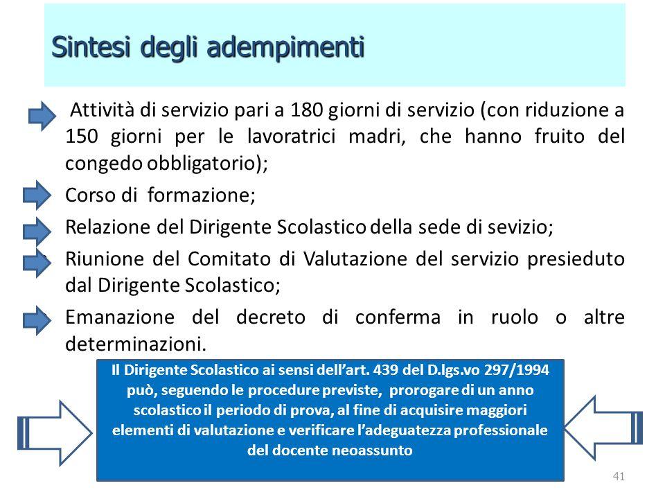 Attività di servizio pari a 180 giorni di servizio (con riduzione a 150 giorni per le lavoratrici madri, che hanno fruito del congedo obbligatorio); C