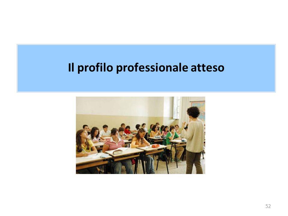 52 Il profilo professionale atteso