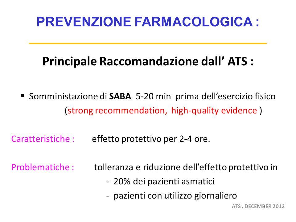 PER AVVIARE IL BAMBINO CON EIB ALLO SPORT DIAGNOSI : Test da Sforzo Prevenzione Non Farmacologica Prevenzione Farmacologica Truwit J, Pulmonary disord