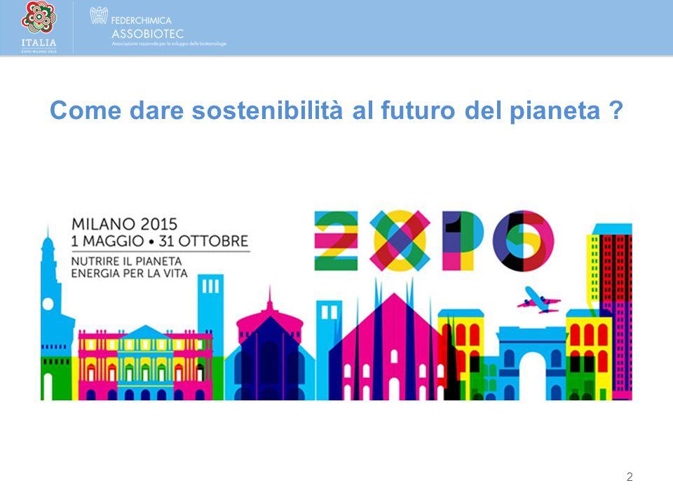 Come dare sostenibilità al futuro del pianeta ? 2