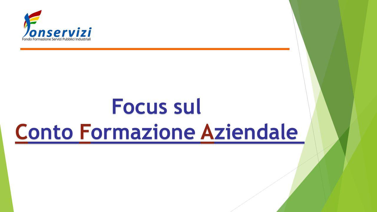 Focus sul Conto Formazione Aziendale