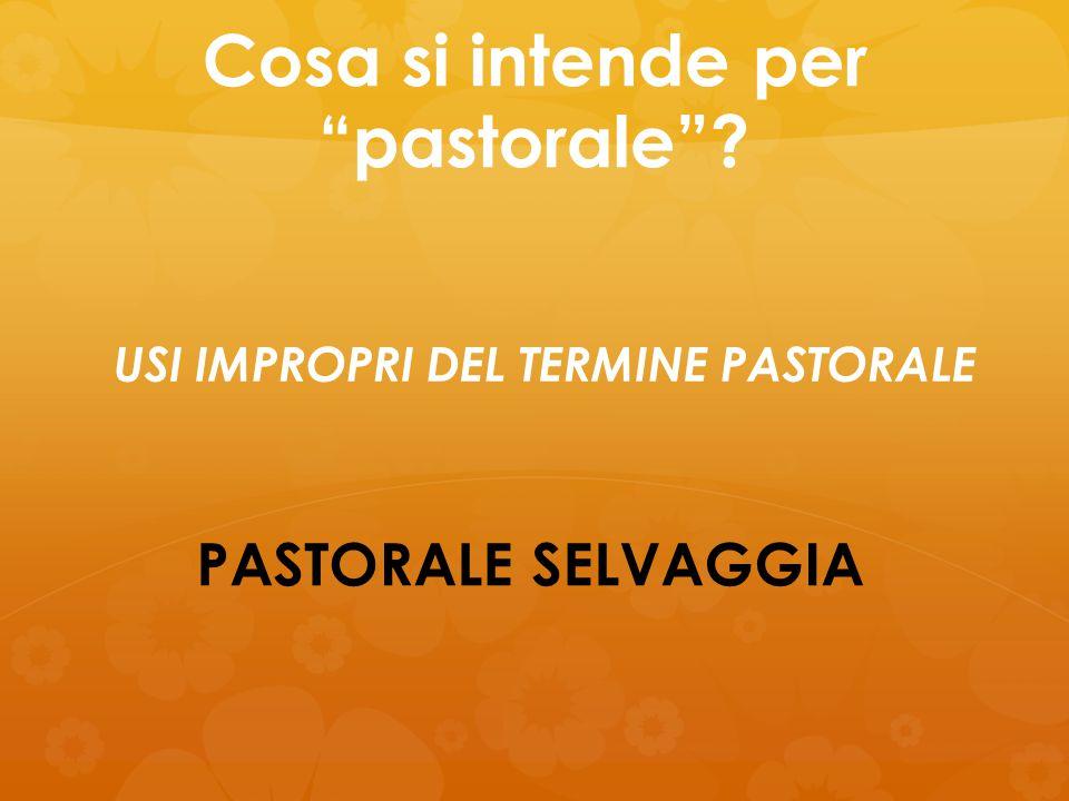 """Cosa si intende per """"pastorale""""? PASTORALE SELVAGGIA USI IMPROPRI DEL TERMINE PASTORALE"""