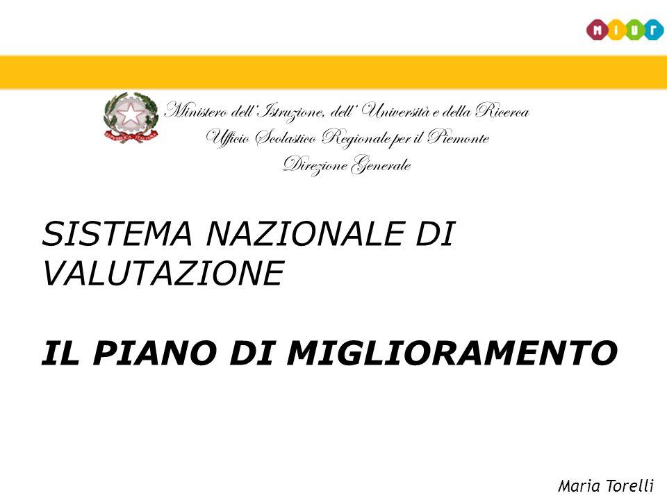 Ministero dell'Istruzione, dell' Università e della Ricerca Ufficio Scolastico Regionale per il Piemonte Direzione Generale SISTEMA NAZIONALE DI VALUT