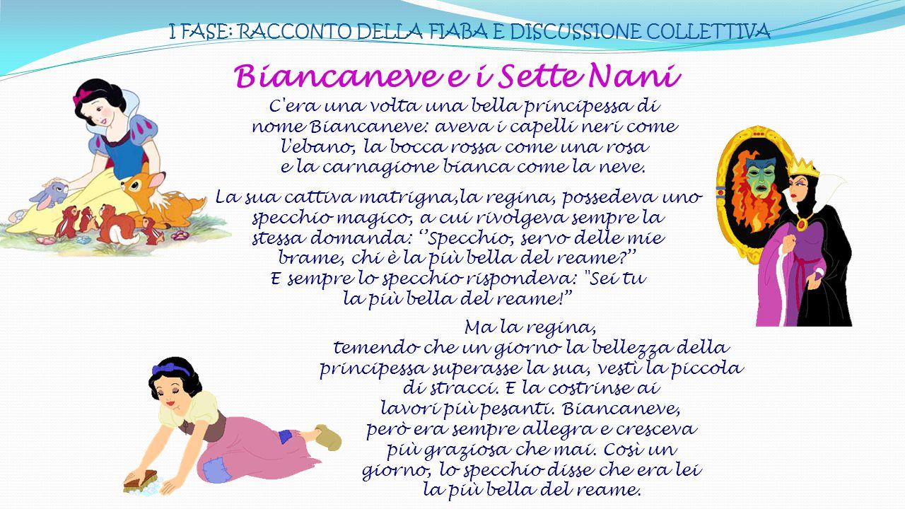 III FASE: «LA SETTIMANA DEI SETTE NANI» LUNED Í è il più piccino si chiama Cucciolo, è tanto carino.