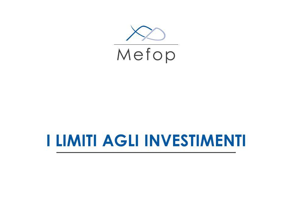 www.mefop.it Il vecchio 703 alla prova del tempo Criteri generali Limiti basati su elementi formali, spesso non più aderenti con il dato normativo attuale Benchmark Elementi presenti ma non utilizzati – Investimento in PMI – Investimento in fondi chiusi mobiliari e immobiliari, società immobiliari 6