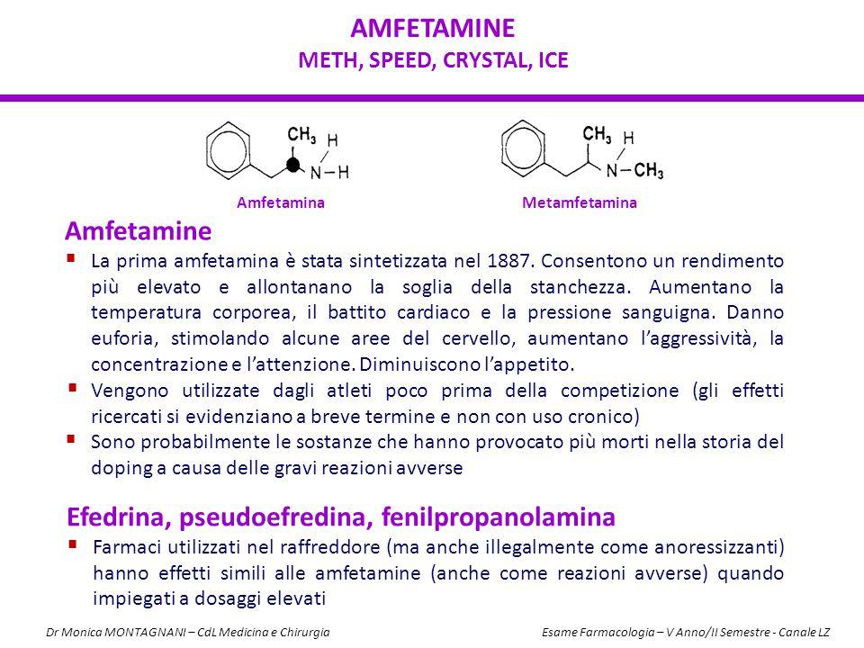 AMFETAMINE METH, SPEED, CRYSTAL, ICE Amfetamine  La prima amfetamina è stata sintetizzata nel 1887. Consentono un rendimento più elevato e allontanan