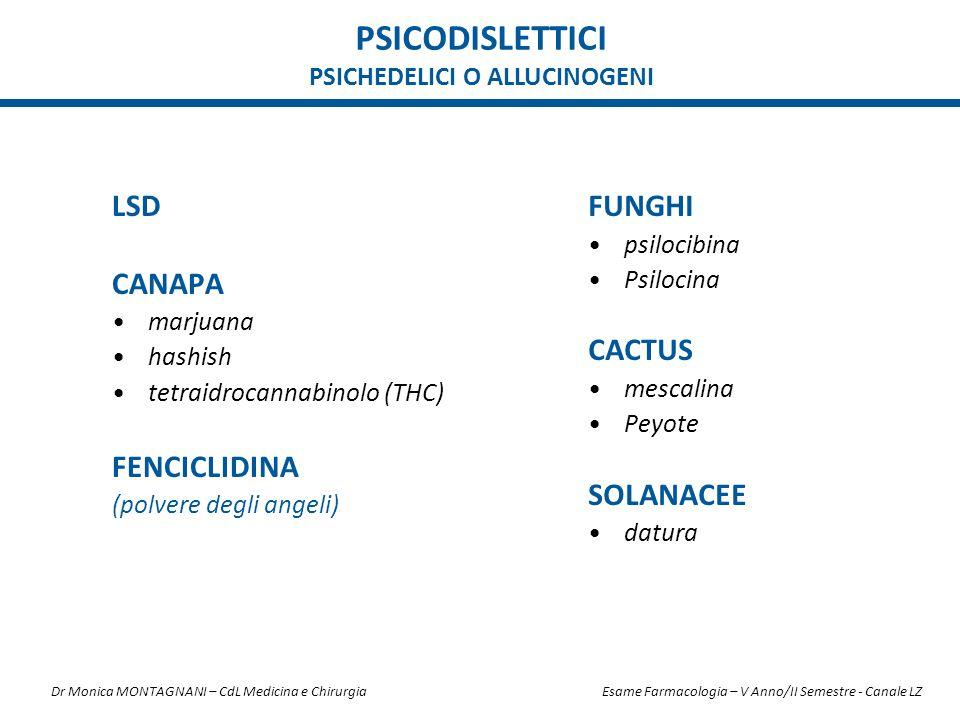 PSICODISLETTICI PSICHEDELICI O ALLUCINOGENI LSD CANAPA marjuana hashish tetraidrocannabinolo (THC) FENCICLIDINA (polvere degli angeli) FUNGHI psilocib