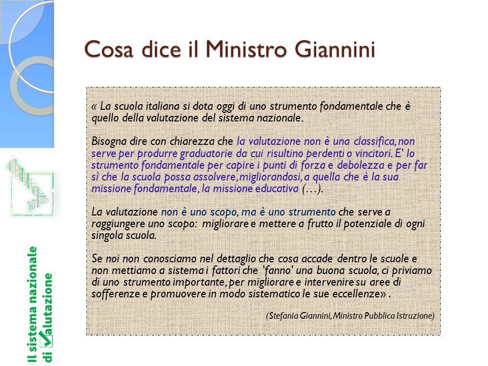 Cosa dice il Ministro Giannini « La scuola italiana si dota oggi di uno strumento fondamentale che è quello della valutazione del sistema nazionale. B