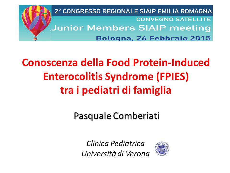 Clinica Pediatrica Università di Verona 0 10 20 30 40 50 49% 5% 8% 38% Allergologo Me Medesimo Pediatra Ospedale/ Pronto Soccorso Gastroenterologo % RISULTATI – Chi ha fatto Diagnosi