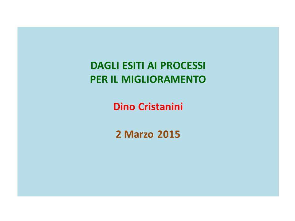 DAGLI ESITI AI PROCESSI PER IL MIGLIORAMENTO Dino Cristanini 2 Marzo 2015