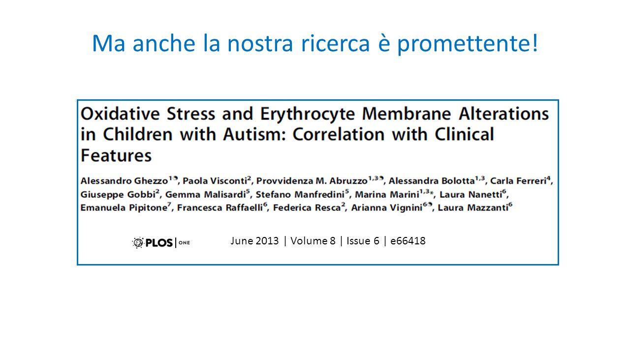 Ma anche la nostra ricerca è promettente! June 2013 | Volume 8 | Issue 6 | e66418