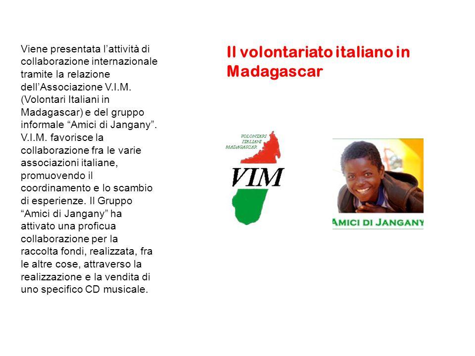Viene presentata l'attività di collaborazione internazionale tramite la relazione dell'Associazione V.I.M.