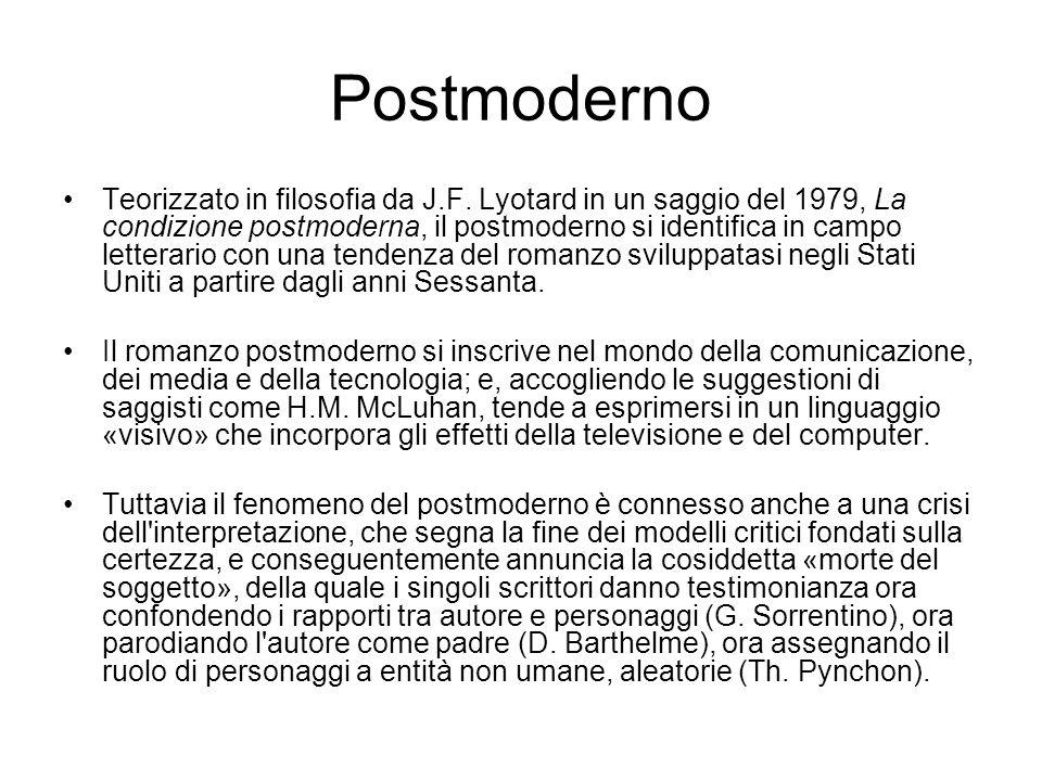 Postmoderno Teorizzato in filosofia da J.F.