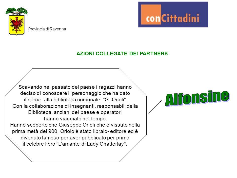 AZIONI COLLEGATE DEI PARTNERS Provincia di Ravenna I ragazzi del C.C.R.