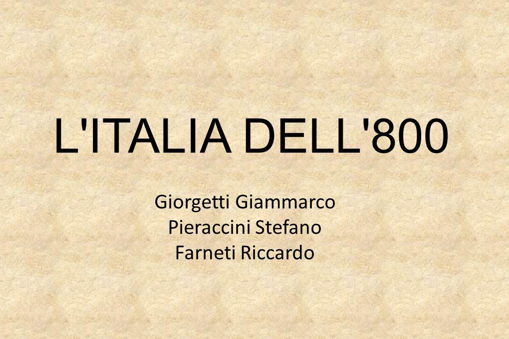 L ITALIA DELL 800 Giorgetti Giammarco Pieraccini Stefano Farneti Riccardo