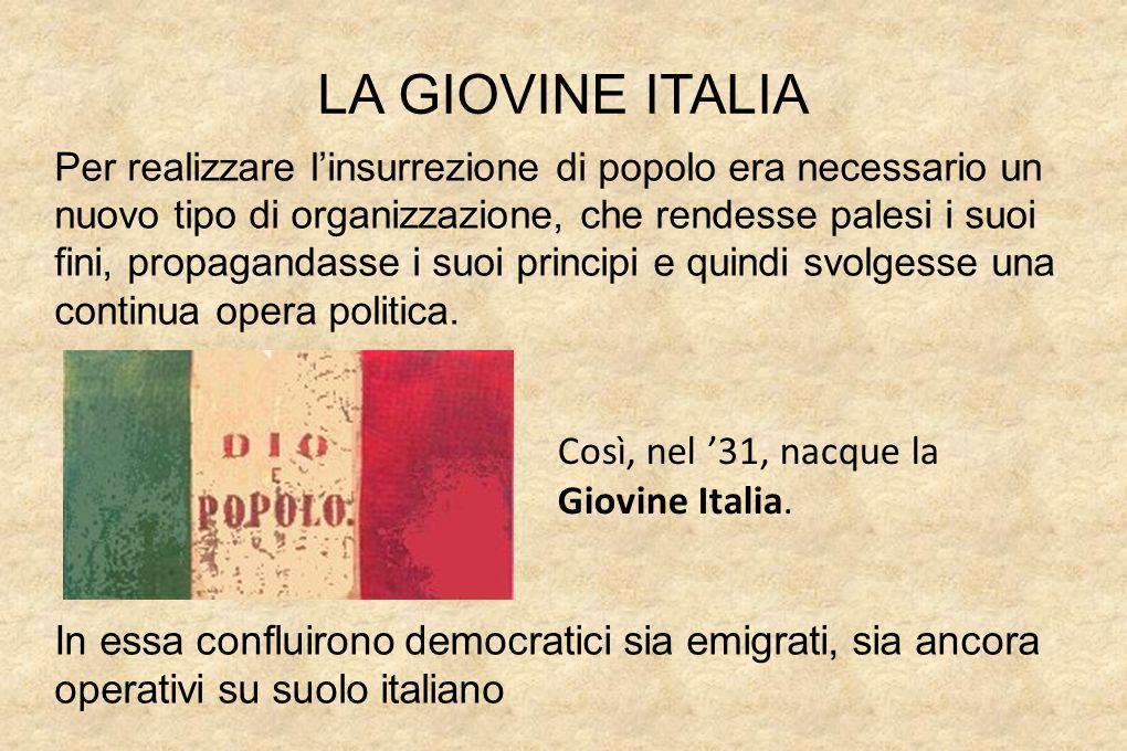 Risultati immagini per giovine italia