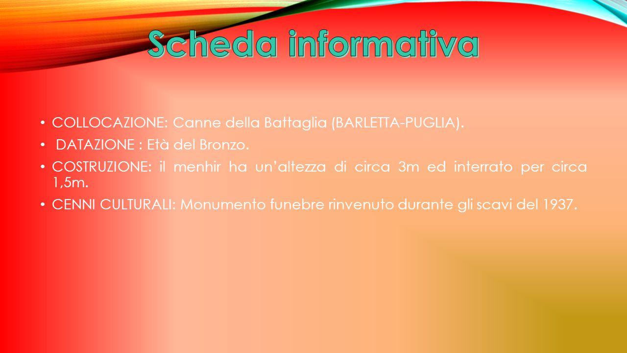 COLLOCAZIONE: Canne della Battaglia (BARLETTA-PUGLIA).