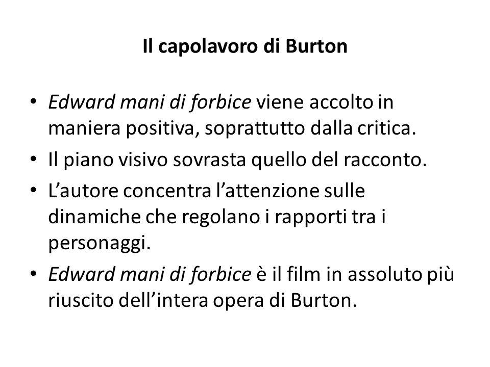 Il capolavoro di Burton Edward mani di forbice viene accolto in maniera positiva, soprattutto dalla critica. Il piano visivo sovrasta quello del racco