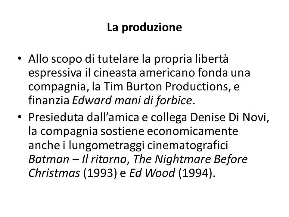 La produzione Allo scopo di tutelare la propria libertà espressiva il cineasta americano fonda una compagnia, la Tim Burton Productions, e finanzia Ed