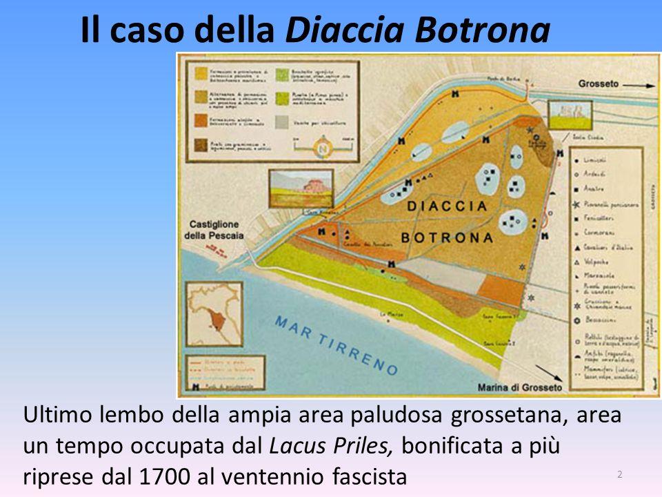 Il caso della Diaccia Botrona 2 Ultimo lembo della ampia area paludosa grossetana, area un tempo occupata dal Lacus Priles, bonificata a più riprese d
