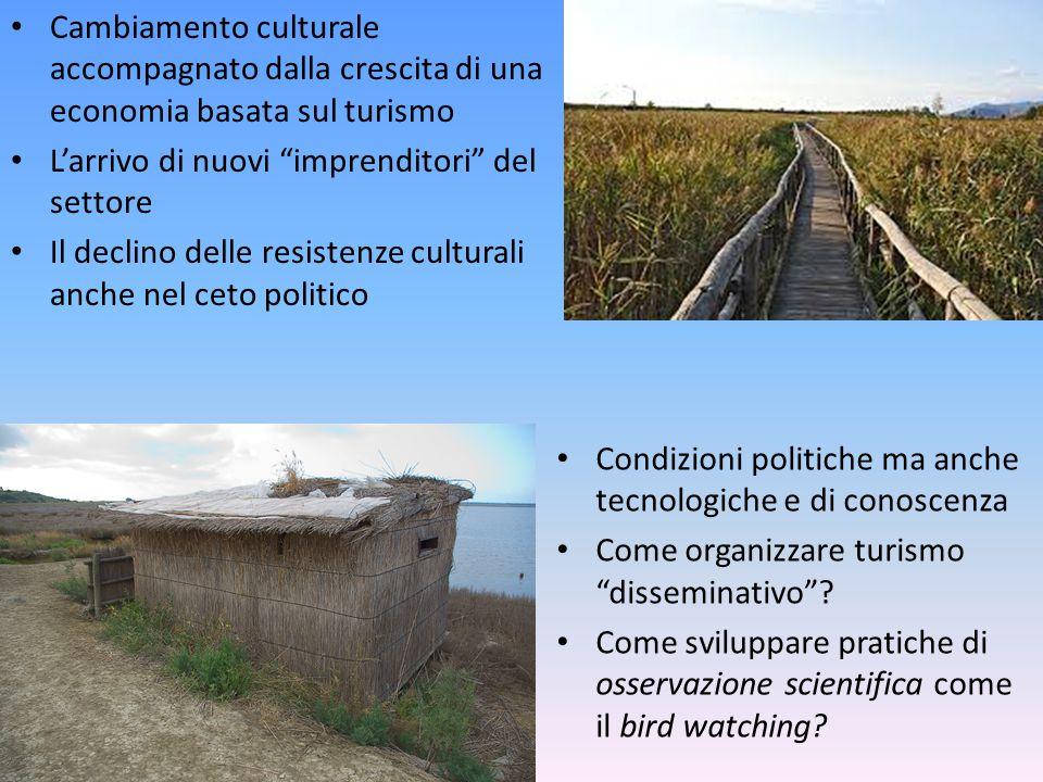 """Cambiamento culturale accompagnato dalla crescita di una economia basata sul turismo L'arrivo di nuovi """"imprenditori"""" del settore Il declino delle res"""
