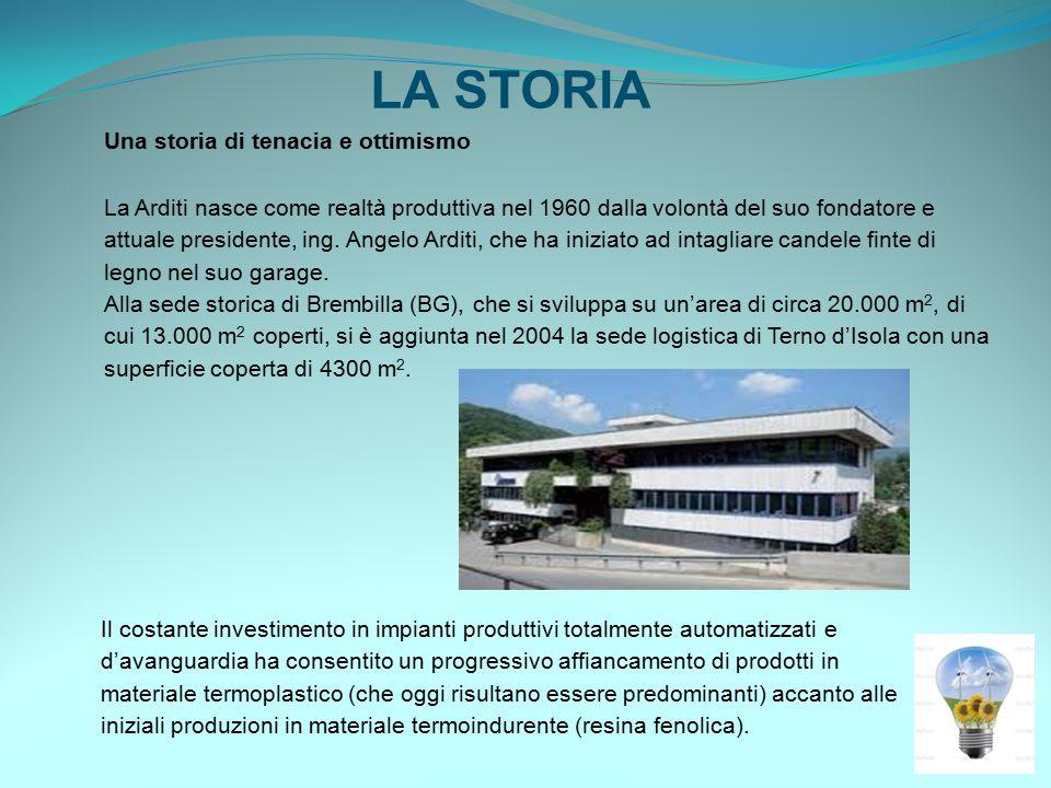 LA STORIA Una storia di tenacia e ottimismo La Arditi nasce come realtà produttiva nel 1960 dalla volontà del suo fondatore e attuale presidente, ing.