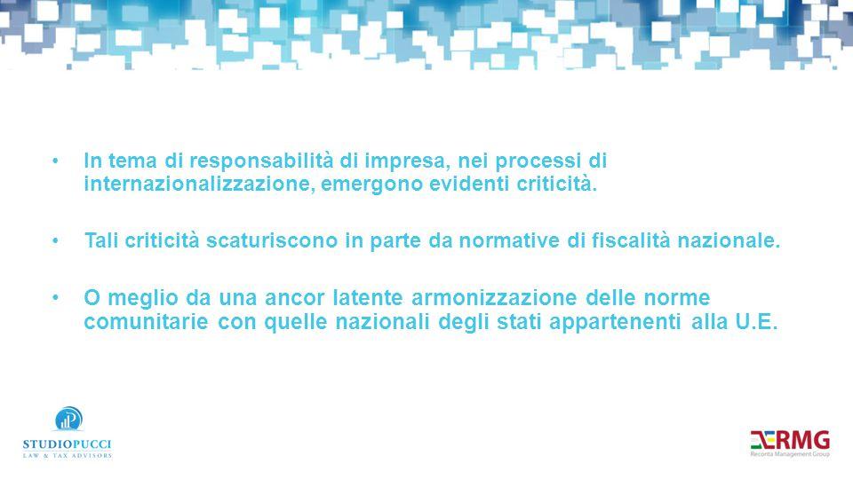 Possiamo quindi affermare che esistono tutt'oggi barriere normative alla internazionalizzazione delle imprese.