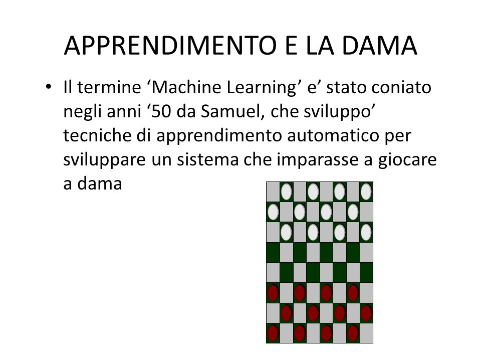 APPRENDIMENTO AUTOMATICO CON SCIKIT-LEARN 1.Leggere i dati (e ripulirli se necessario) 2.Analizzarli, per esempio tramite visualizzazione 3.Identificare il miglior algoritmo di apprendimento 4.Analizzare le prestazioni