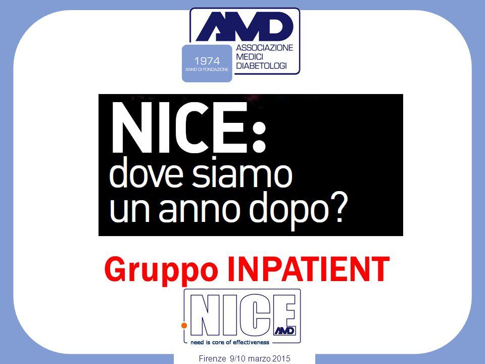 Gruppo INPATIENT Firenze 9/10 marzo 2015