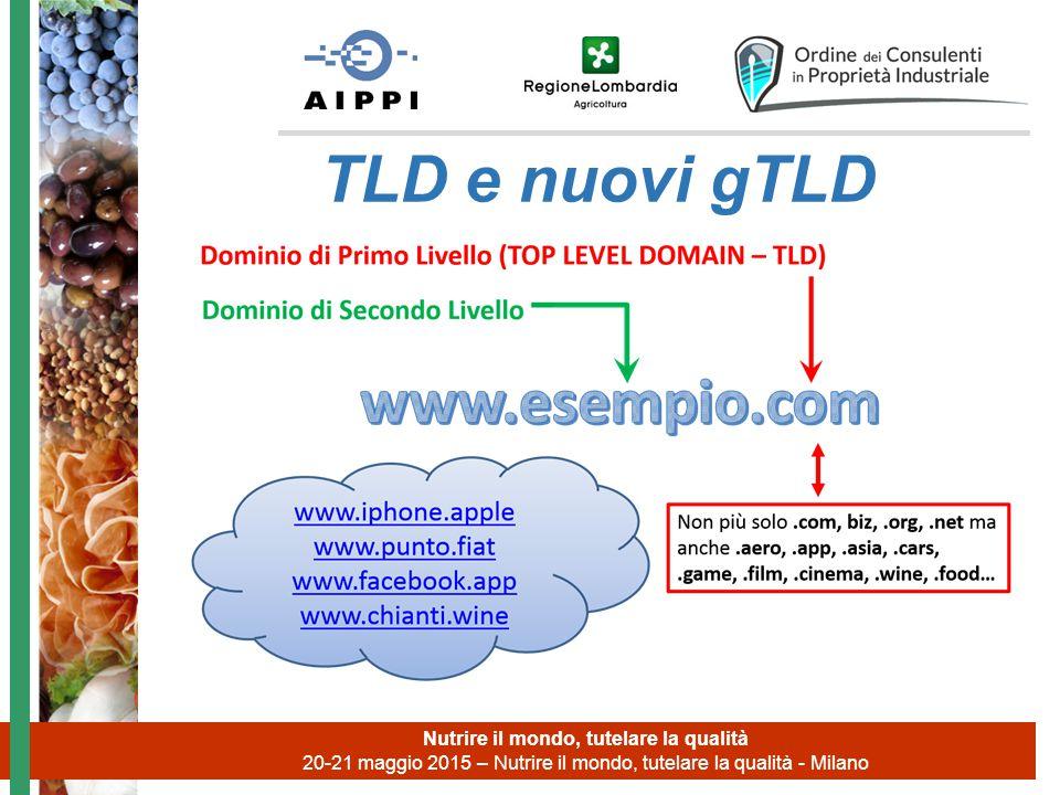 Nutrire il mondo, tutelare la qualità 20-21 maggio 2015 – Nutrire il mondo, tutelare la qualità - Milano TLD e nuovi gTLD
