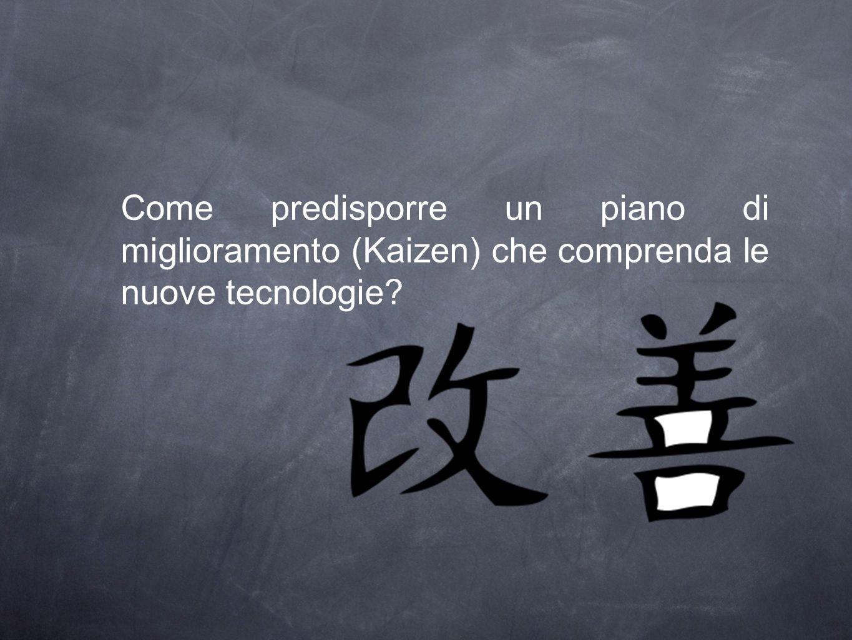 Come predisporre un piano di miglioramento (Kaizen) che comprenda le nuove tecnologie?