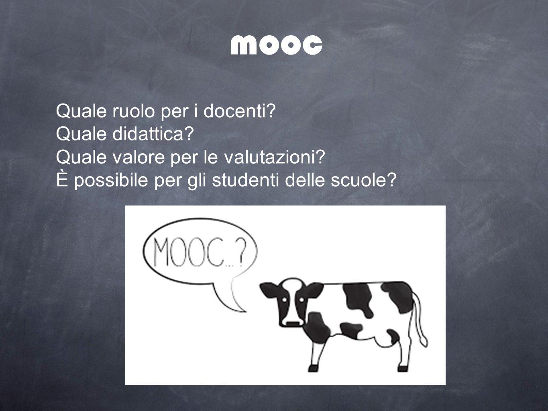 mooc Quale ruolo per i docenti? Quale didattica? Quale valore per le valutazioni? È possibile per gli studenti delle scuole?