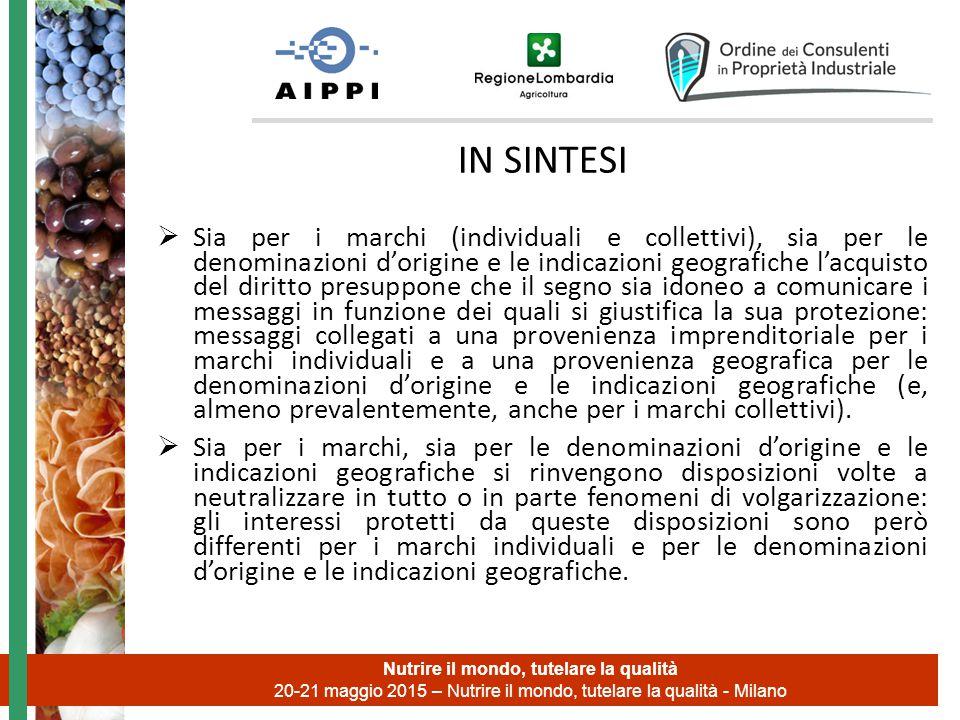 g.sironi@vanzettieassociati.it GRAZIE Nutrire il mondo, tutelare la qualità 20-21 maggio 2015 – Nutrire il mondo, tutelare la qualità - Milano