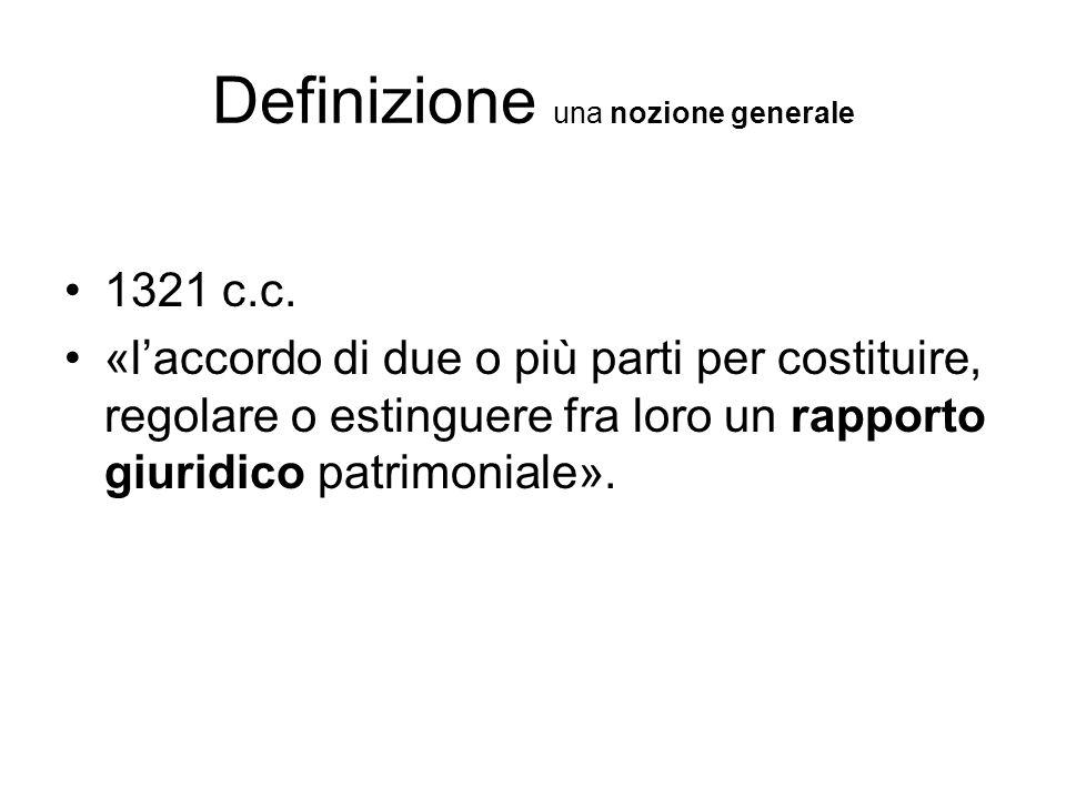 Definizione una nozione generale 1321 c.c.