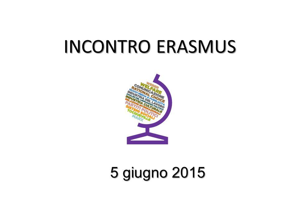 INCONTRO ERASMUS 5 giugno 2015 5 giugno 2015