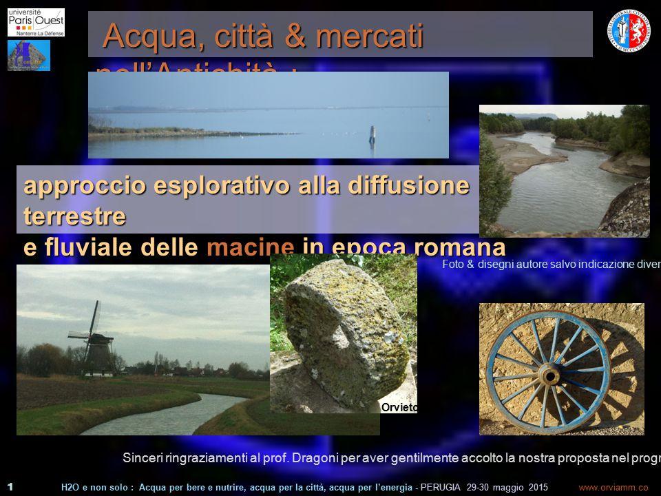 1 www.orviamm.co m Acqua, città & mercati nell'Antichità : Acqua, città & mercati nell'Antichità : Sinceri ringraziamenti al prof.