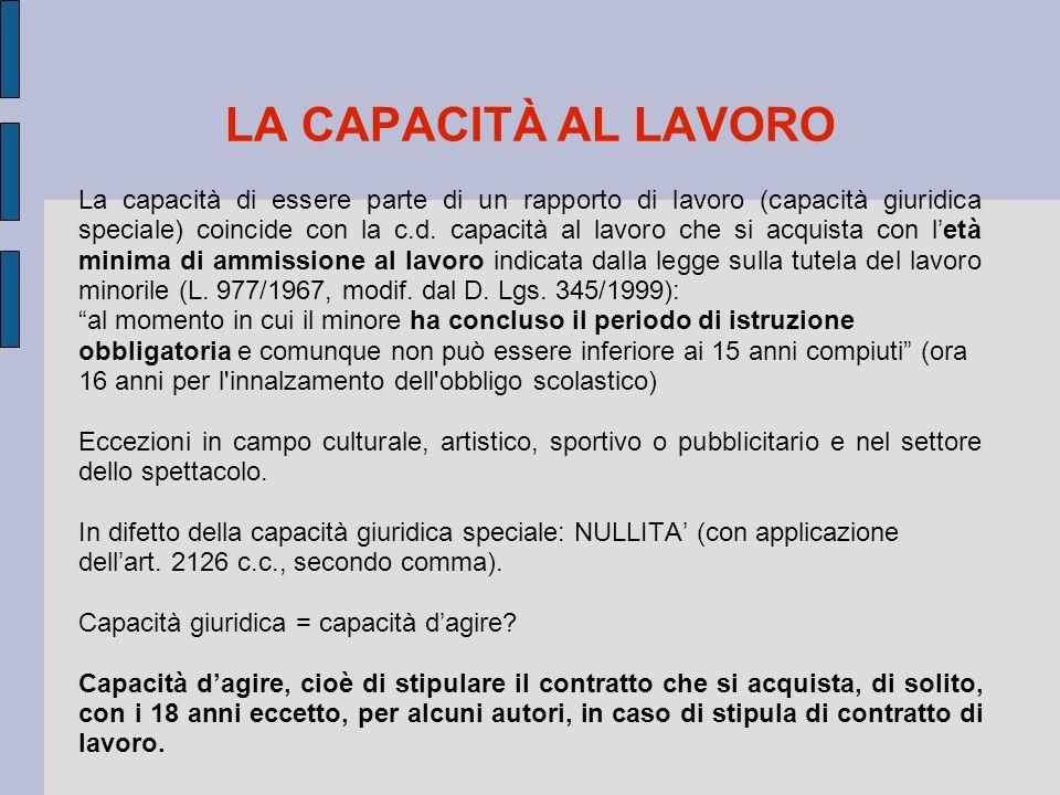 16 Lo SCHEMA di DECRETO LEGISLATIVO sulle tipologie contrattuali (di attuazione della legge delega n.