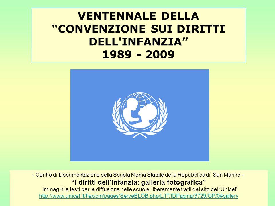 Convenzione sui diritti dell infanzia © UNICEF HQ97-0839/LeMoyne Artt.