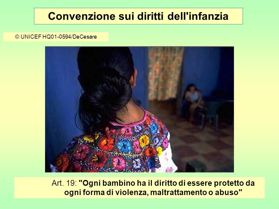 Convenzione sui diritti dell infanzia © UNICEF HQ01-0594/DeCesare Art.