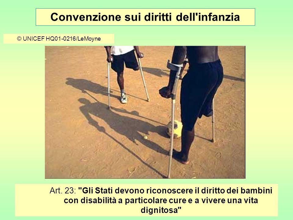 Convenzione sui diritti dell infanzia © UNICEF HQ01-0216/LeMoyne Art.