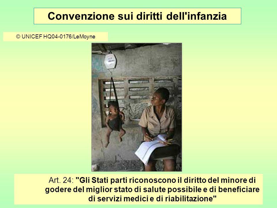 Convenzione sui diritti dell infanzia © UNICEF HQ04-0176/LeMoyne Art.